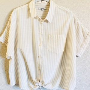 Madewell Cropped Button-Up Top